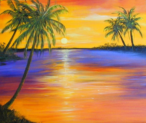 Palm Mural Wall Art