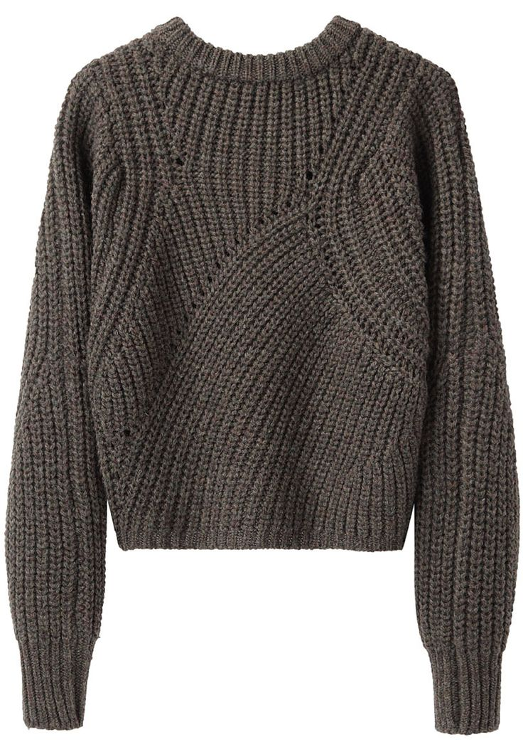 Isabel Marant / Tifen Cropped Pullover-Side Note: Moving Ribs Would be The Basics of Probably Most of My Design Work With Knits :)