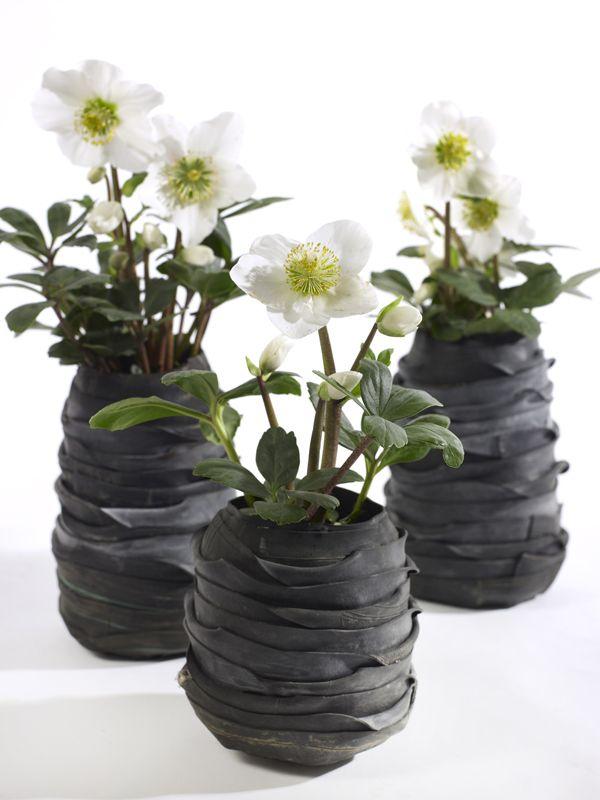 Vaso Serax Recycle Tondo designed by Moniek Vanden Berghe Vaso in copertone riciclato D12 X H18