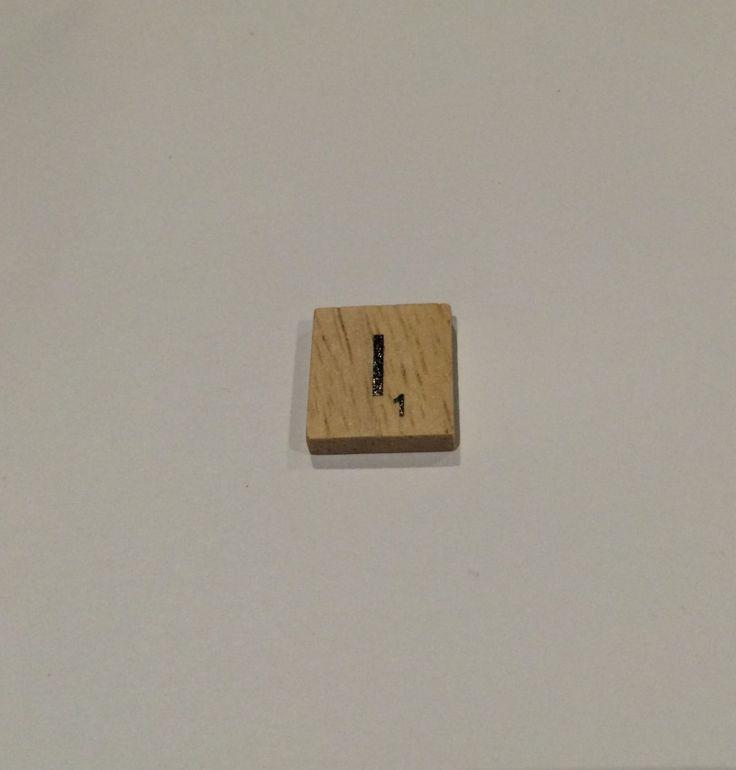 "ONE TILE LETTER ""I"" - wooden Scrabble Tiles letters - Magnets Pendants Craft by ElvesNFairies on Etsy"