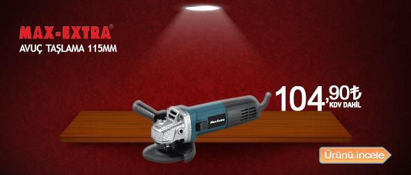 Ürün hakkında bilgi almak ve satın almak için tıklayınız! http://www.tokgozler.com/max-extra-115mm-avuc-taslama-mxp8115