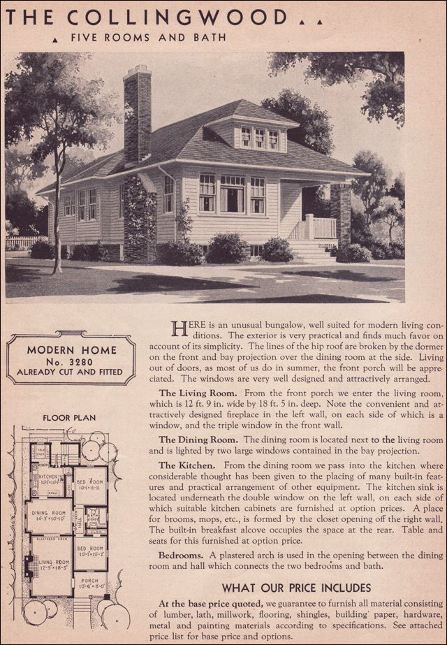1936 Hillsboro   Sears Roebuck Kit Houses   Modern Bungalow