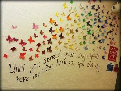Butterflies, nurture room display, Honiton Primary School