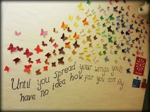 Butterflies, nurture room display, Honiton Primary School