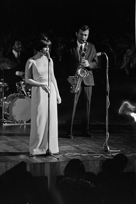 Stan Getz & Astrud Gilberto performing at De Doelen in Rotterdam on the 8th of November 1966. Photo by Andre van der Heuvel.