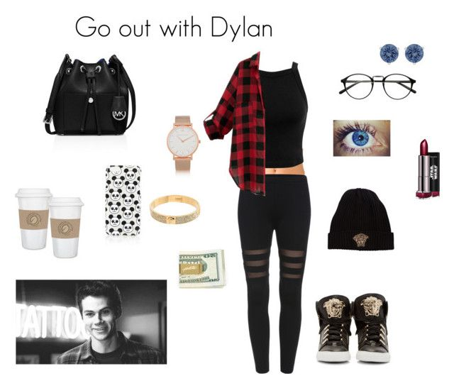 """Go out with Dylan"" by sr-magcult-bieber-gomez ❤ liked on Polyvore featuring Forever 21, Miss Selfridge, Larsson & Jennings, Versace, Swarovski, Topshop and MICHAEL Michael Kors"