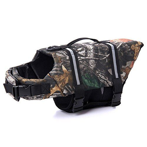 I just bought this and love it. Assorted Color Dog Life Jacket Reviews Adjustable Dog Life Vest Preserver (XL, Tree Camo) . you can see what others said about it here http://bridgerguide.com/assorted-color-dog-life-jacket-reviews-adjustable-dog-life-vest-preserver-xl-tree-camo/