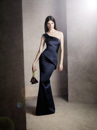 Dress your bridesmaids in deep dark navy (White Vera Wang Bridal Fall 2013)