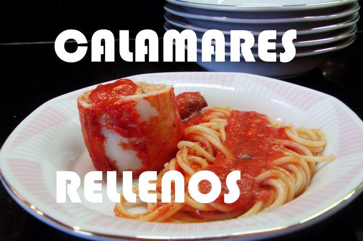 Cómo hacer calamares rellenos en salsa? Receta sabrosa. Calamari ripieni...