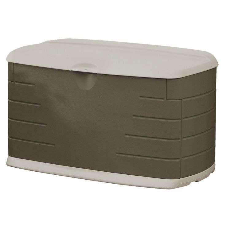 Superb Rubbermaid 75 Gallon Outdoor Storage Box/Bench (12 Inches Long X 44 Inches