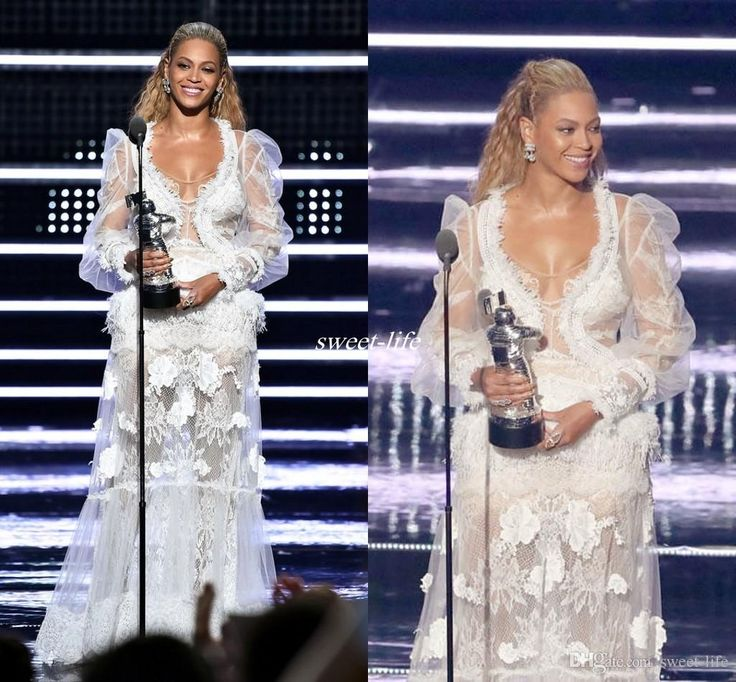 Sexy 2016 Beyonce Long Sleeve White Evening Dress Scoop Neckline Feather Lace Applique Beyonce Prom Gowns Illusion Formal Celebrity Dresses Celebrity Dresses Lace Evening Gowns Online with 175.0/Piece on Sweet-life's Store | DHgate.com