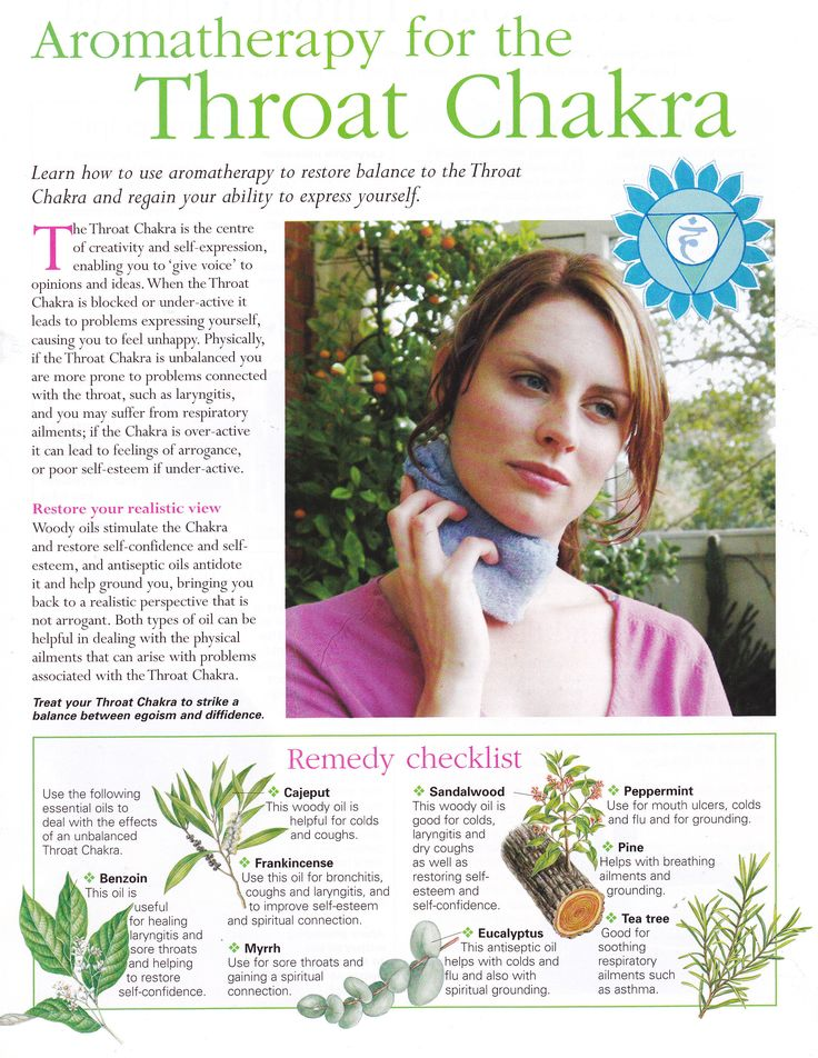 Aromatherapy for the Throat Chakra - 5th Chakra