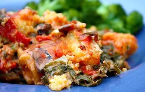 Vegan polenta lasagne (Made with a Crock pot...great way to have food ready when you get home from work!)