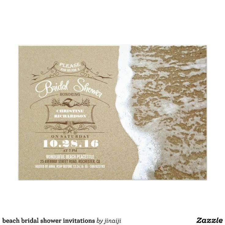 30 best beach themed bridal shower images on Pinterest | Beach ...