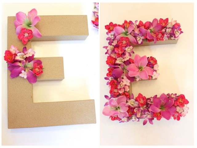 danielle oakey interiors: $5.00 DIY FLORAL LETTER!