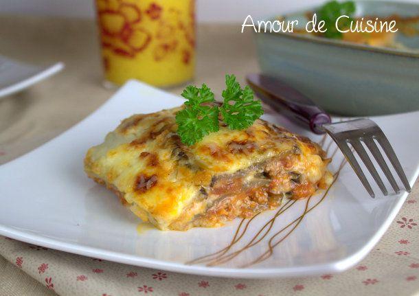 recette lasagnes aux aubergines - Amour de cuisine