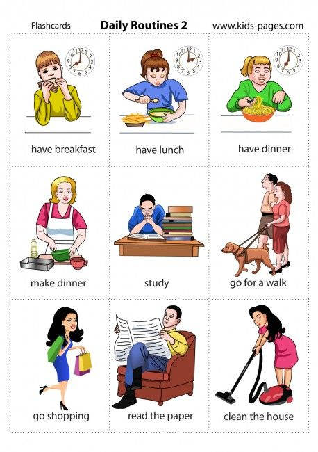 Daily Routines 2 flashcard
