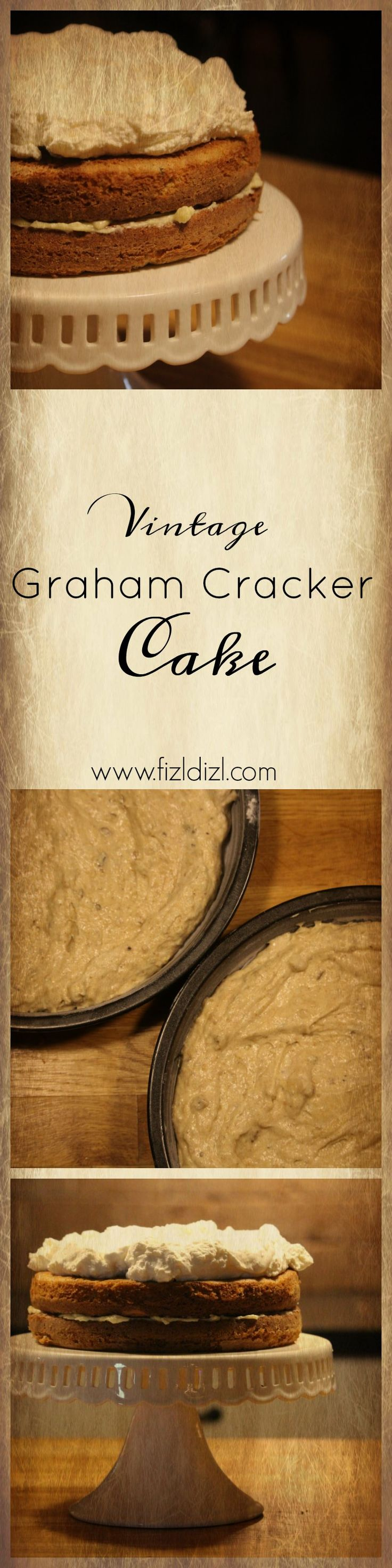 This old fashioned layer cake will delight everyone. This light & fluffy, buttery & nutty flavored cake is perfect for bridal showers, teas, and birthdays. Bring back a little bit of Grandma's kitchen with this Vintage Graham Cracker Cake.
