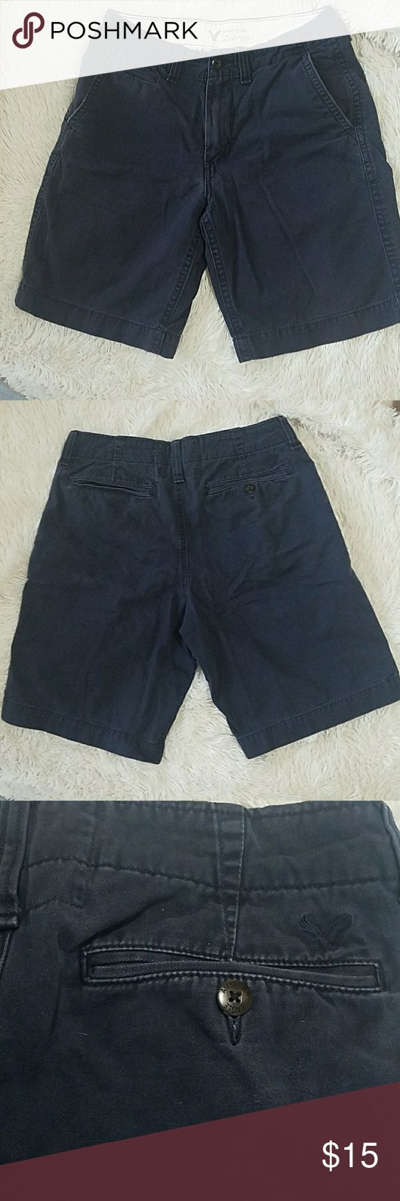 American Eagle Outfitter Mens Shorts Dark Blue Denim American Eagle Shorts with a Classic Length fitting. American Eagle Outfitters Shorts Jean Shorts