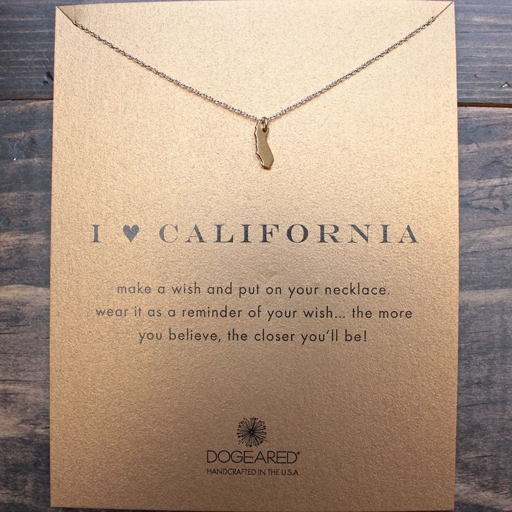 dogeared I ♥ California Pendant Necklace, gold dipped