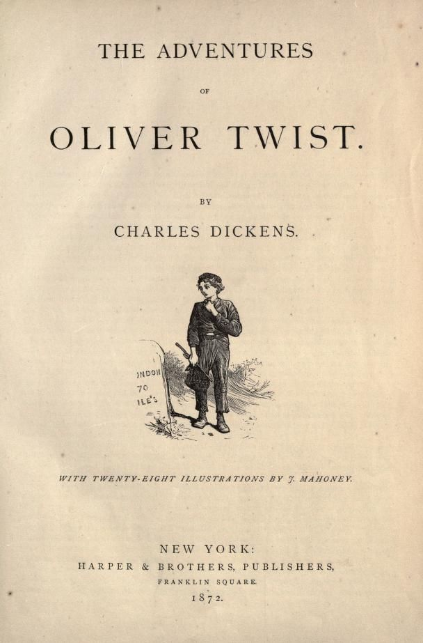 an analysis of oliver twist a novel by charles dickens Oliver twist, or the parish boy's progress, is the second novel by charles dickens, and was first published as a serial 1837-39 the story is of the orphan oliver twist, who starts his life in a workhouse and is then sold into apprenticeship with an undertaker.