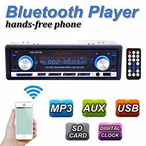 AUDEW 60Wx4 Single Din Bluetooth Car Stereo In Dash 12V with FM SD/USB/Aux MP3 Player+ Remote Control - http://www.caraccessoriesonlinemarket.com/audew-60wx4-single-din-bluetooth-car-stereo-in-dash-12v-with-fm-sdusbaux-mp3-player-remote-control/  #60Wx4, #AUDEW, #Bluetooth, #Control, #Dash, #Player, #Remote, #SDUSBAux, #Single, #Stereo #Car-Stereos, #Electronics