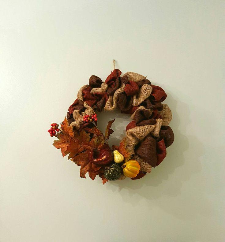 Fall Wreath, Burlap Wreath, Thanksgiving Wreath, Halloween Wreath, Fall Decor, Thanksgiving Decor, Halloween Decor, Rustic Wreath, Burlap by BootsAndDirtRoads on Etsy
