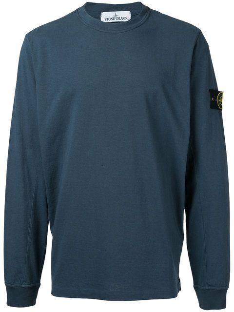 STONE ISLAND Sleeve Patch Sweatshirt. #stoneisland #cloth #sweatshirt