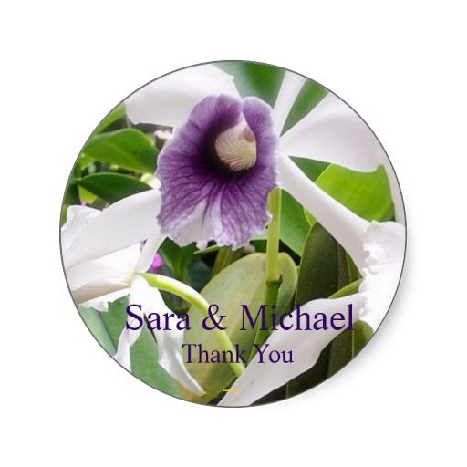 Wedding thank you label lilly thank you labelsround