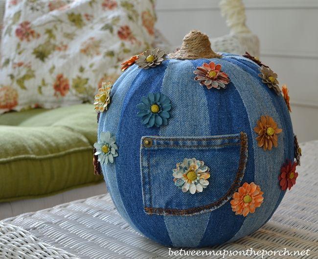 Denim Pumpkin: 5 Creative Ways to Decorate a Pumpkin