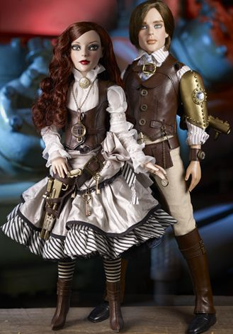 Wilde Imagination Imperium Park Thea and Phin � Steampunk Fashion dolls