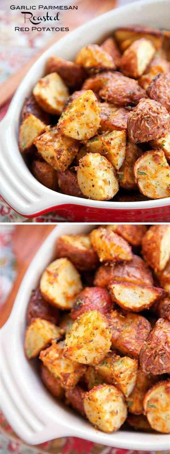 Garlic Parmesan Roasted Red Potatoes - healthy, paprika, parmesan, potato, recipes