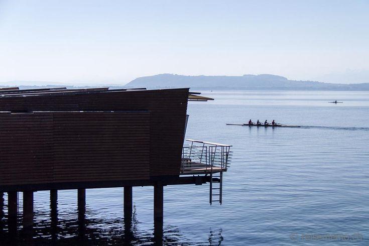 Stylish boutique hotel Palafitte on stilts, Lake Neuchâtel, Switzerland