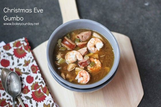 Chicken, Sausage & Shrimp Gumbo | www.bakeyourday.net