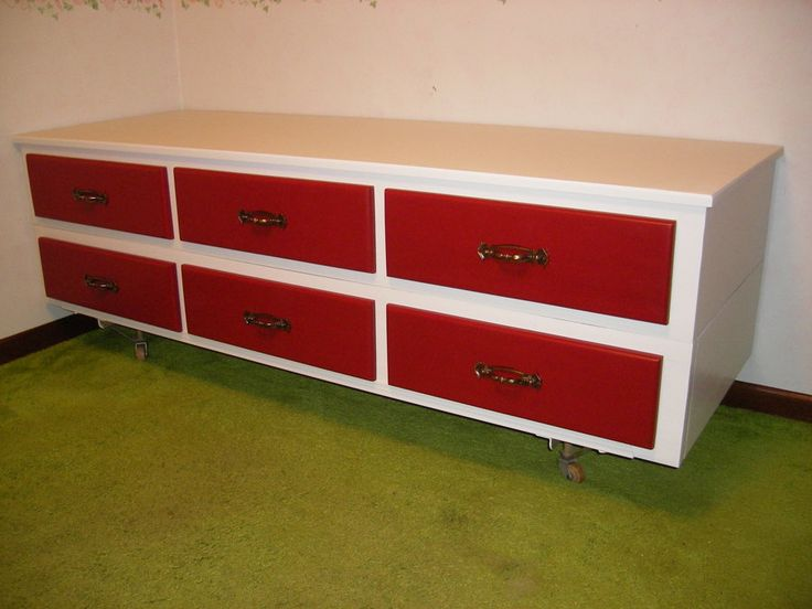 Great Plan To Recycle Our 12 Drawer Waterbed Frame To