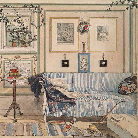 """""""Lathörnet (Rincón acogedor)"""" (1894). Carl Larsson, pintor y diseñador de interiores sueco (1853-1919)."""