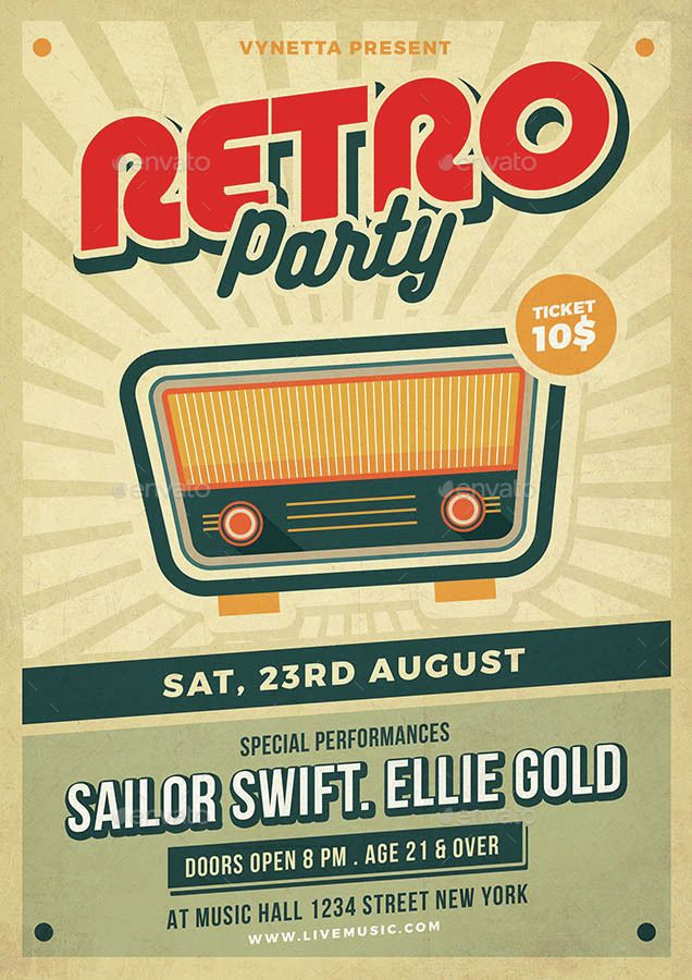 Retro Music Poster / Flyer