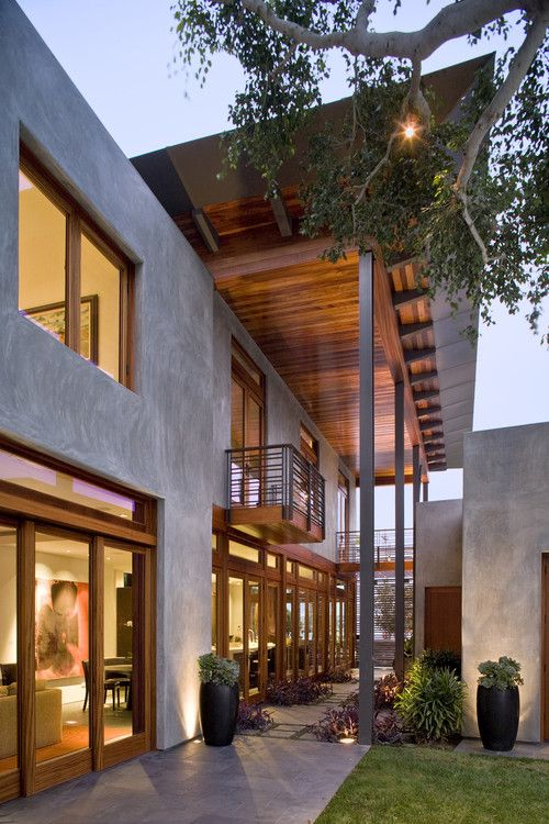 15 Photos of Modern Design Residences - Love to be able to bring the outside in with large sliding doors.
