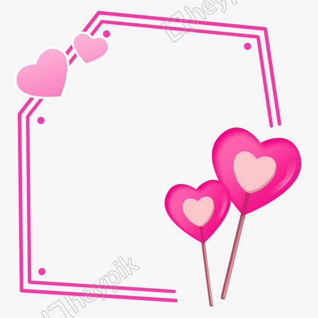 Hand Drawn Love Heart Border Png And Psd File How To Draw Hands Heart Border Love Heart Illustration