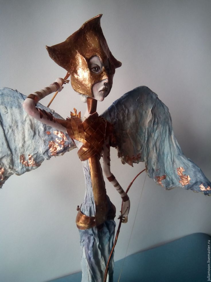 Купить Боевой ангел - комбинированный, подарок, единственный экземпляр, ангел, медь, кукла ручной работы