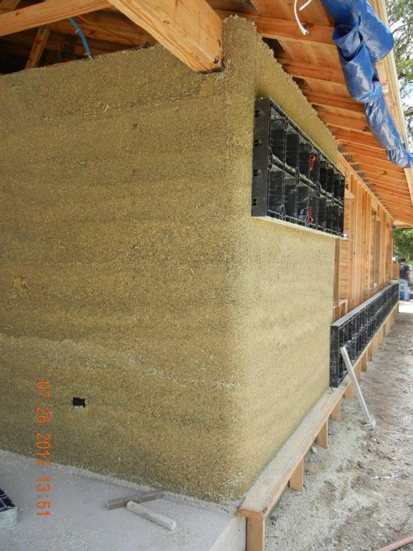 American Lime Technology Pioneers Hemcrete An Alternative To Concrete In Building Homes Hemcrete Has