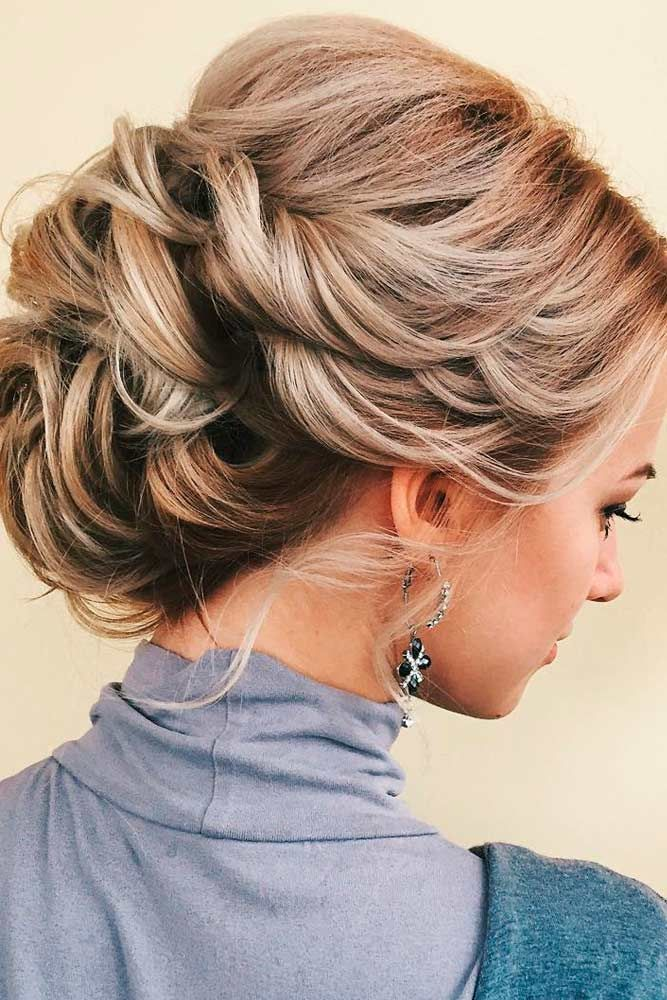21 Trendy Updo Hairstyles For You To Try | Medium length ...