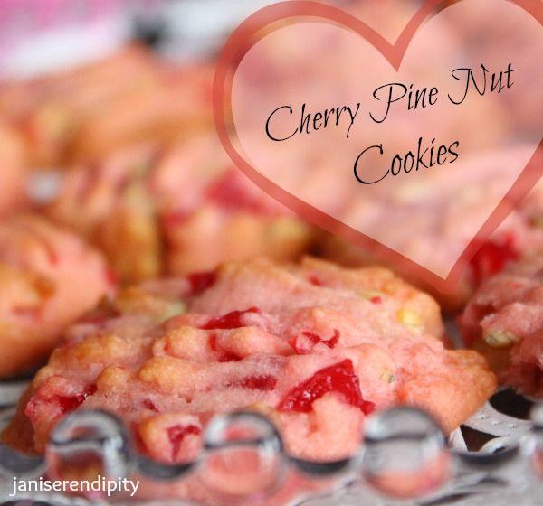 Cherry Pine Nut Cookies