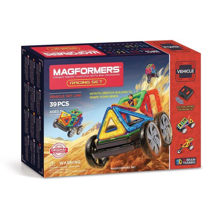 Ontdek de Magformers Racing Set! Racewagens bouwen was nog nooit zo makkelijk dankzij deze 39-delige set magnetisch speelgoed met maar liefst 12 verschillende basisvormen en 7 verschillende accessoires, waaronder een afstandsbediening. Kijk snel in het meegeleverde boekje voor inspiratie en bouw meteen een straffe auto of een stoere motor. Met deze Magformers set word jij de koning van de weg! Bovendien is het educatief speelgoed van Magformers uitstekend geschikt als hersentraining. Een…