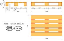 Eur Pallets, wiki page, no info about chemical treatments.  The site shows counter fit pallets, they seem to lack the center block information.  Mine look legit, the odd thing i have noticed is both pallets have had a droplet of sap or resin come out of the surface.  Website talks about 'moudly' wood, if its from Europe that standard is they have to be treated with pesticides...