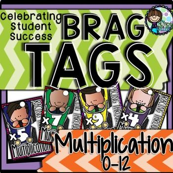 Brag Tags Multiplication provides you with a fabulous classroom management…