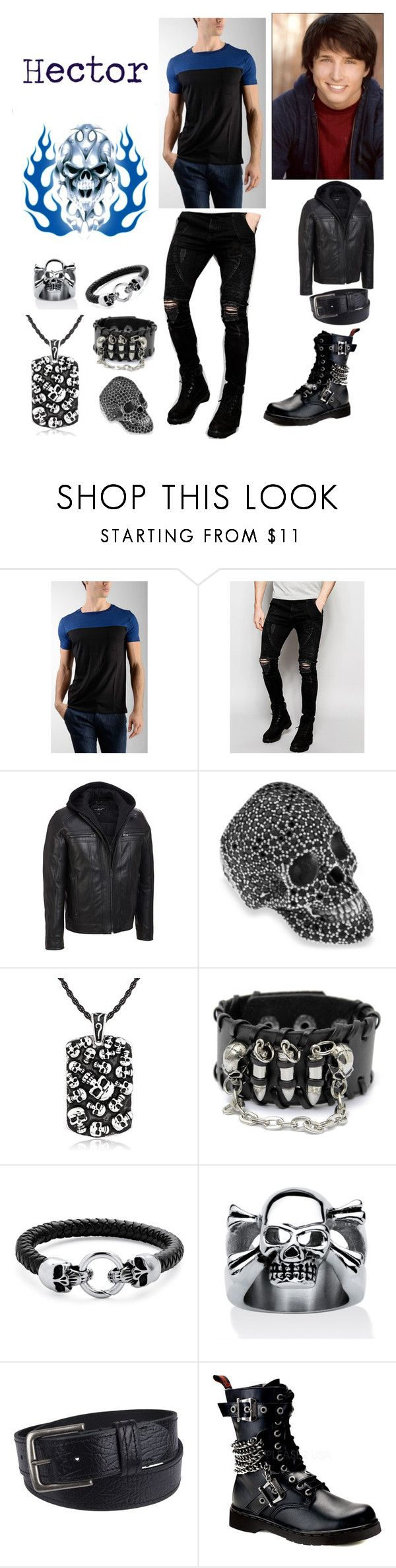 """Hades' Son"" by keih95 ❤ liked on Polyvore featuring Rebello, Sik Silk, Platadepalo, West Coast Jewelry, Palm Beach Jewelry, Levi's, Demonia, men's fashion and menswear"