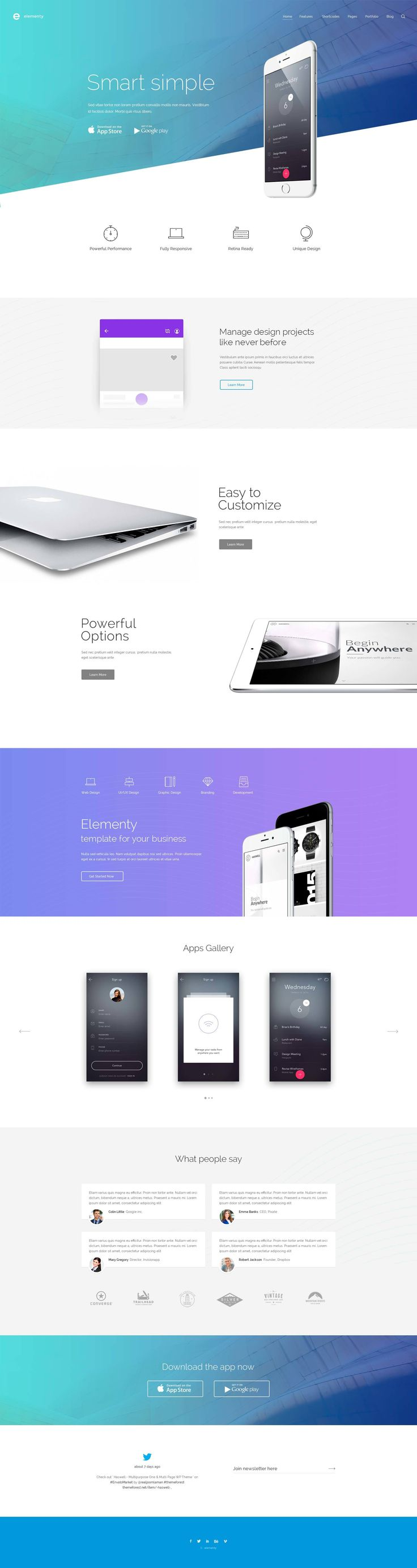 Elementy – Multipurpose PSD Template - PSD Templates