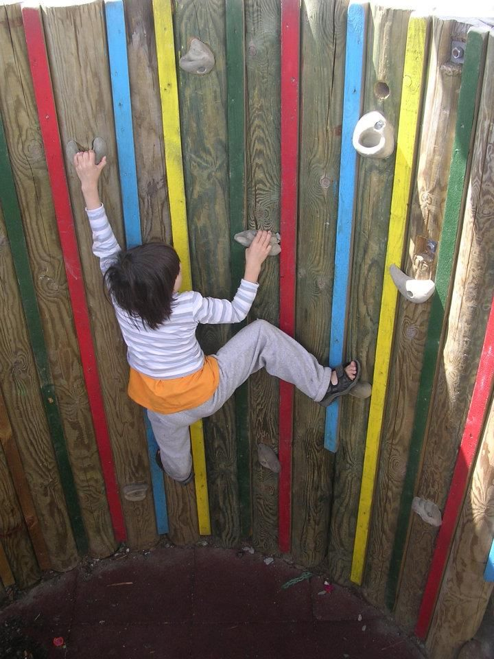 Climbing in the well.