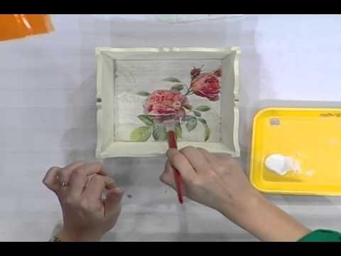 Decoración con técnica Decoupage - YouTube